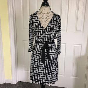 WHBM Faux Wrap Dress Size 10